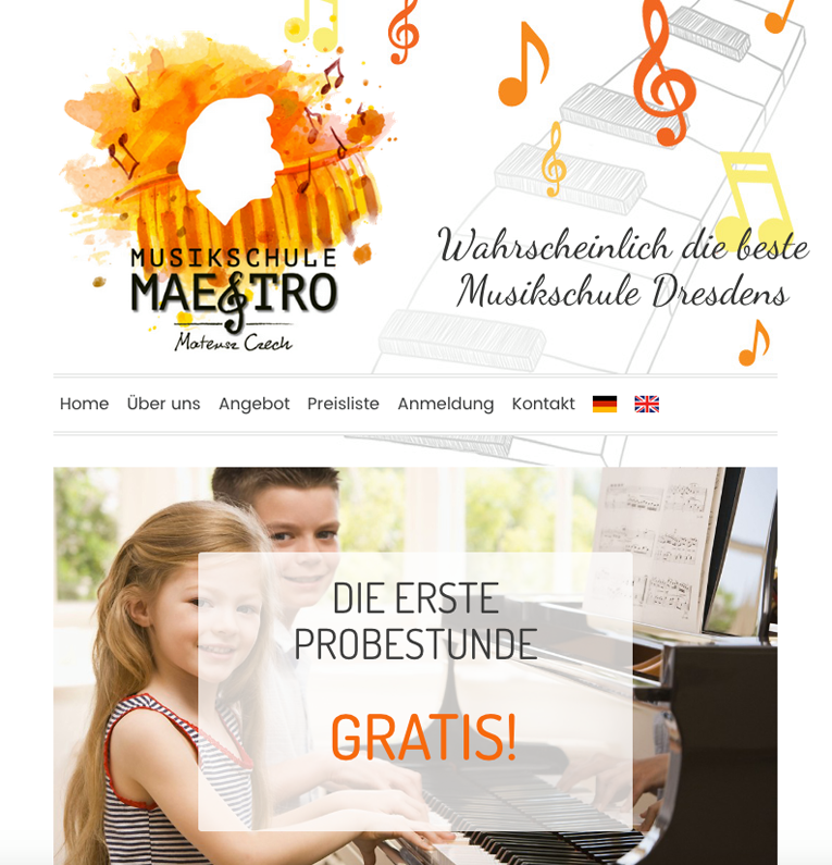 założenie strony dla Szkoły Muzycznej