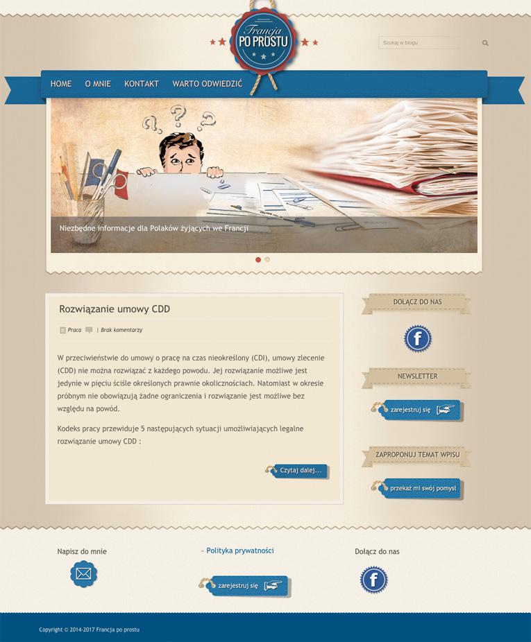 projekt graficzny bloga
