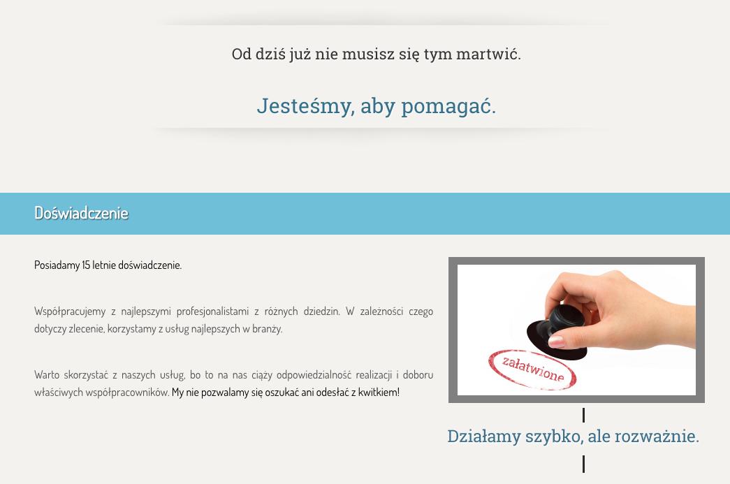 wizytówka www