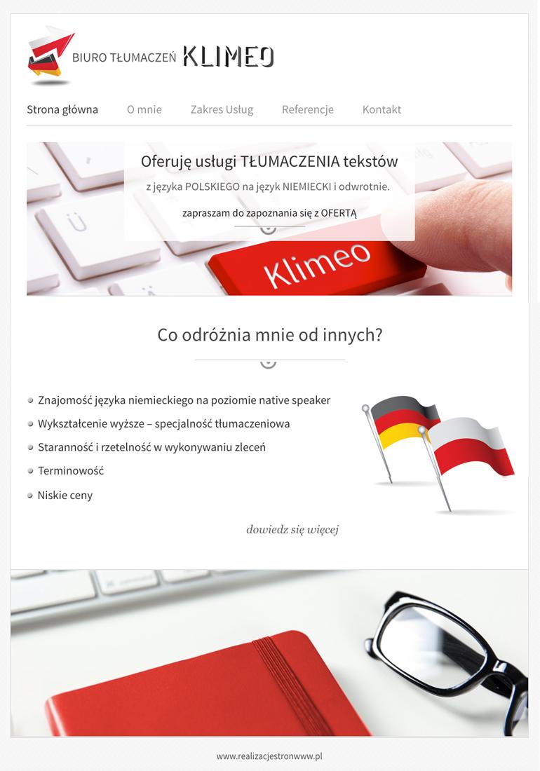 strony www cennik kilmeo