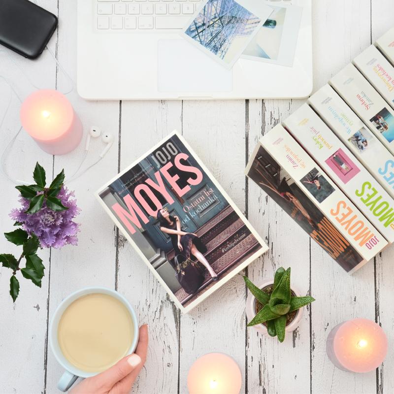 zdjęcia aranżowane książek Jojo Moyes